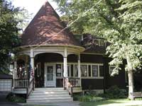 490-Phillips Avenue Brown home with circular porch
